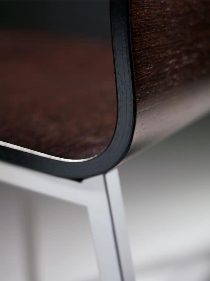 MELISSA A15 Wood, Chair made of metal and painted wood, for waiting rooms