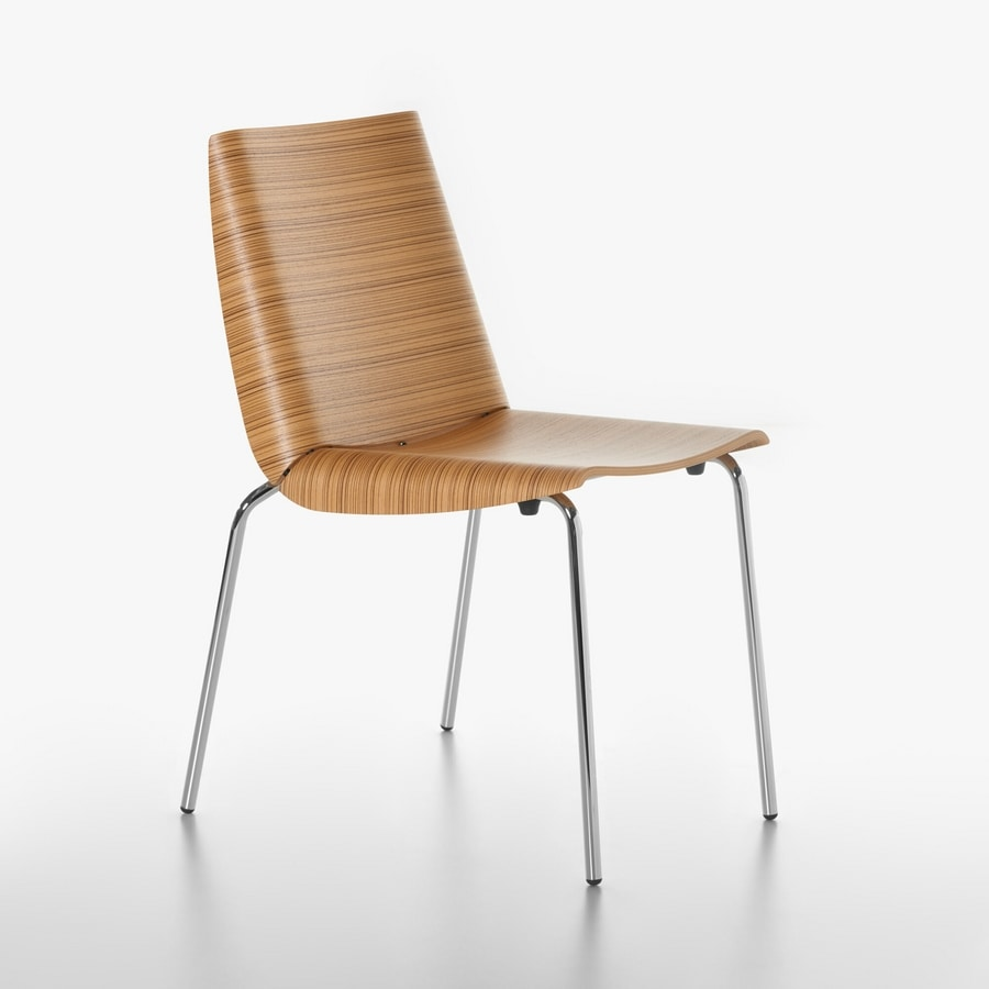 Millefoglie chair 1620-20, Metal Chair with plywood shell, for Kitchen