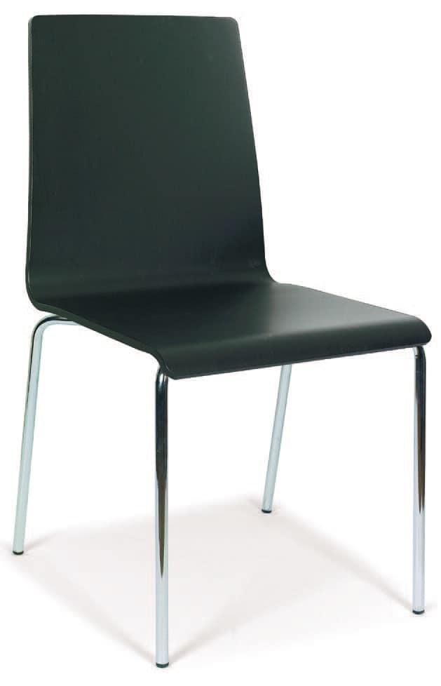 SE 509, Metal chair with painted wood shell, for contract use