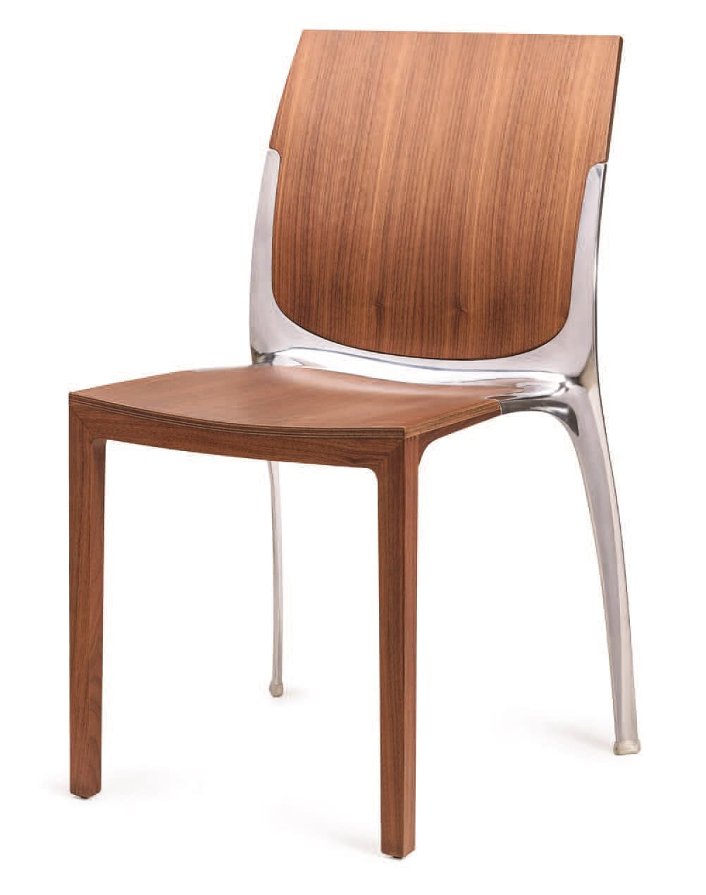 SE 800 / INT, Stackable chair in wood and metal, for contract use