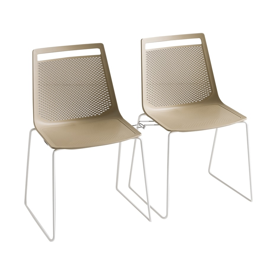 Akami, Metal chair, backrest in polymer perforated