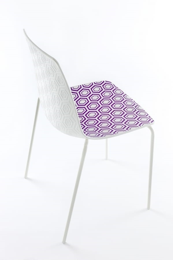 Alhambra NA, Chair with metal structure, polymer base