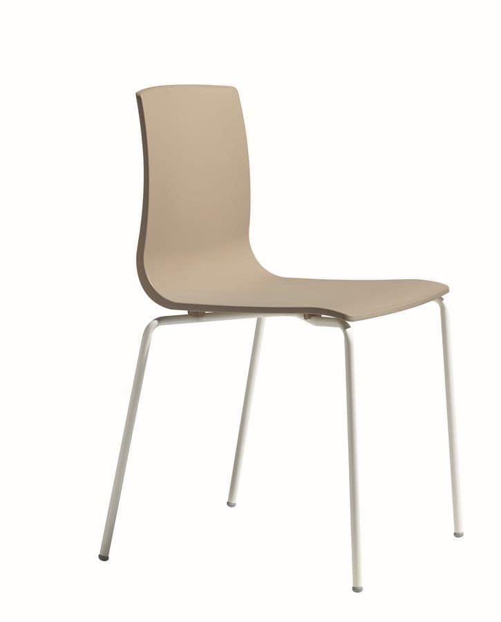 Alice Chair, Chair with metal structure for home