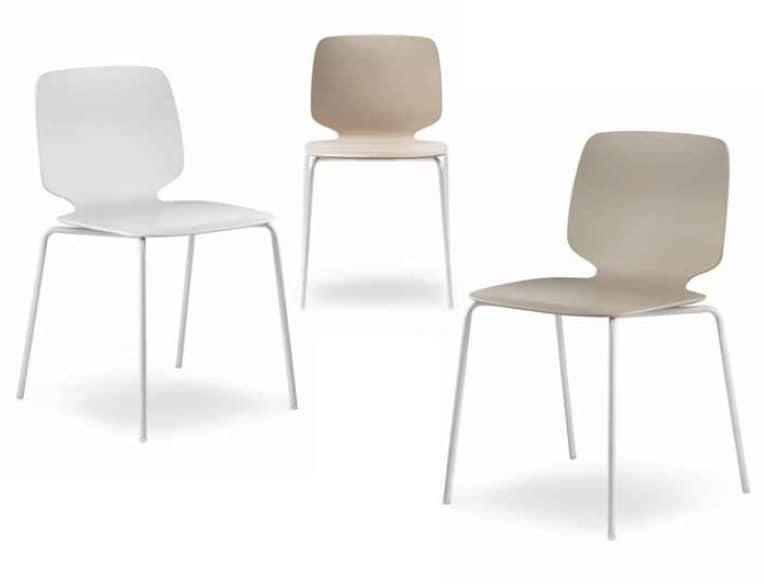 Babila-TC, Chair with shell in technopolymer