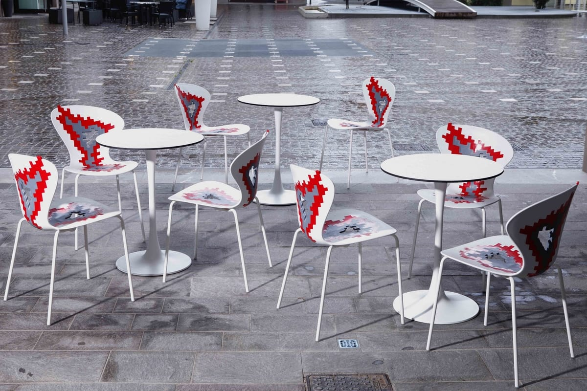 Big Bang, Metal chairs with plastic seat, for conference room