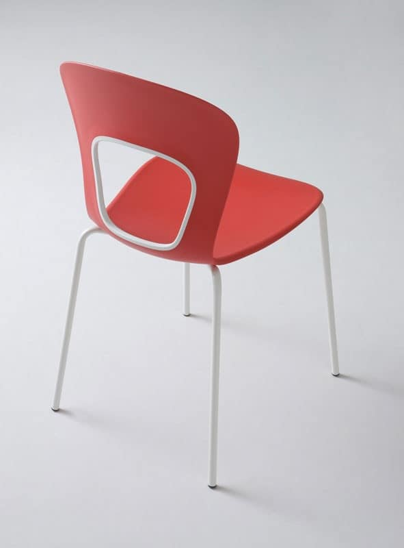 Blog, Chair with plastic seat, for fashionable Pastry
