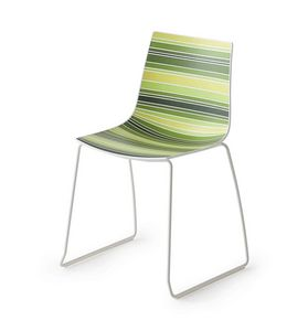 Colorfive S, Design chair with metal legs, sledge metal base