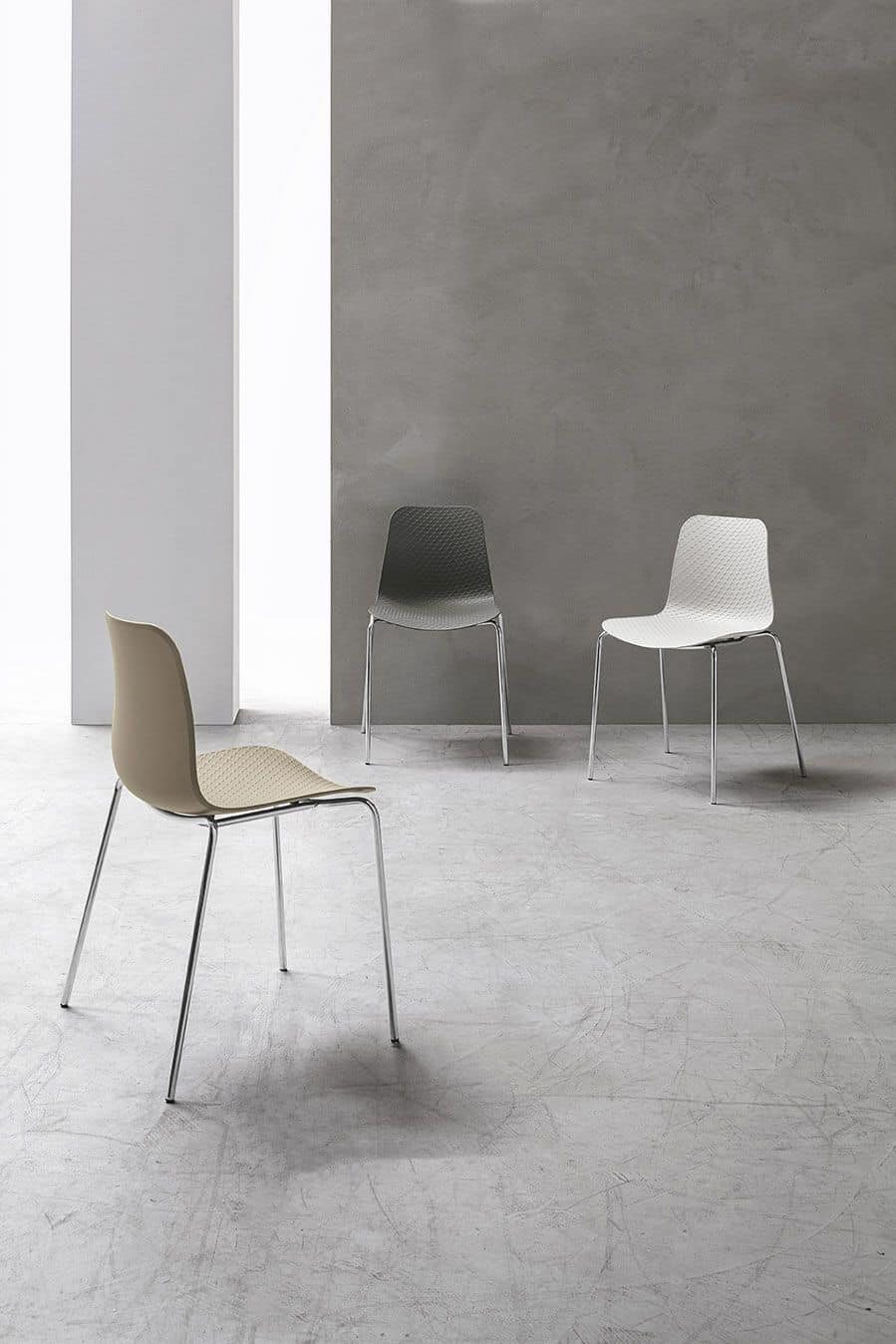 COLONIA SE182, Chair with metal frame, seat and back in polypropylene, in modern style