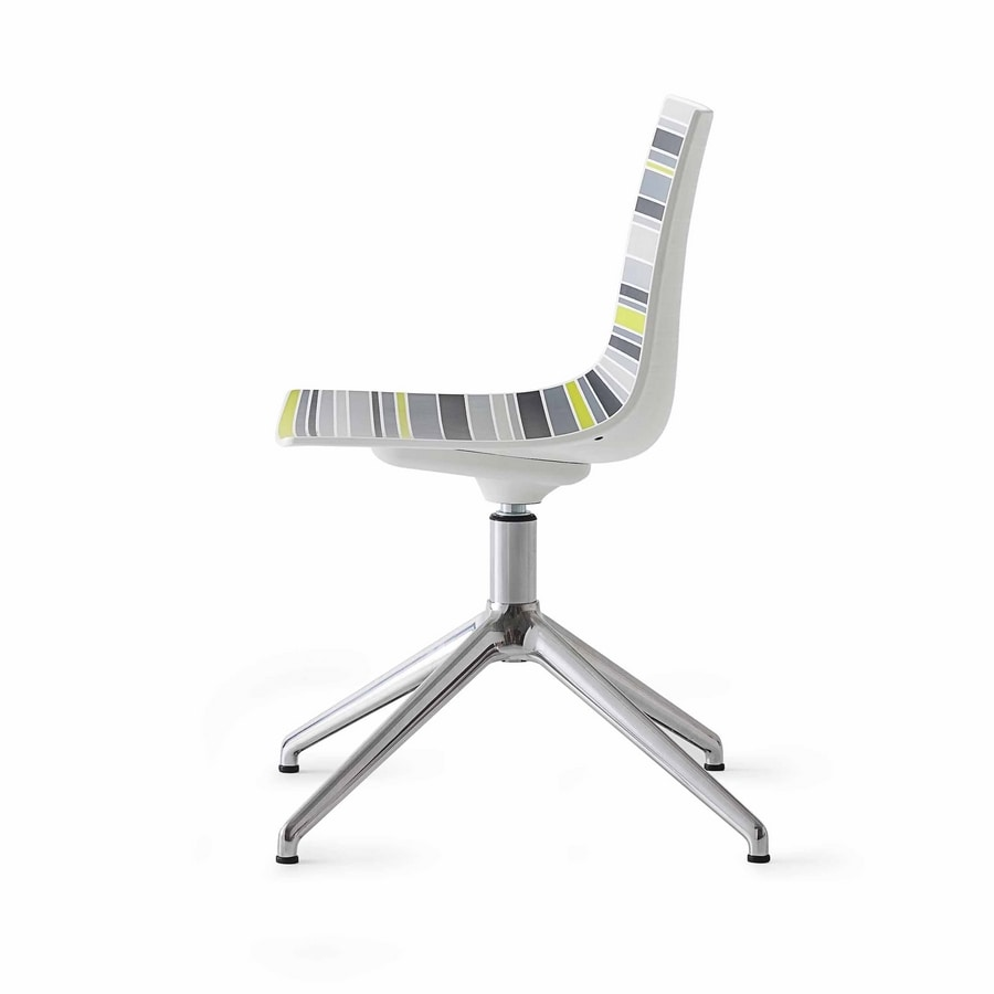 Colorfive L, Chair with plastic multicolored shell