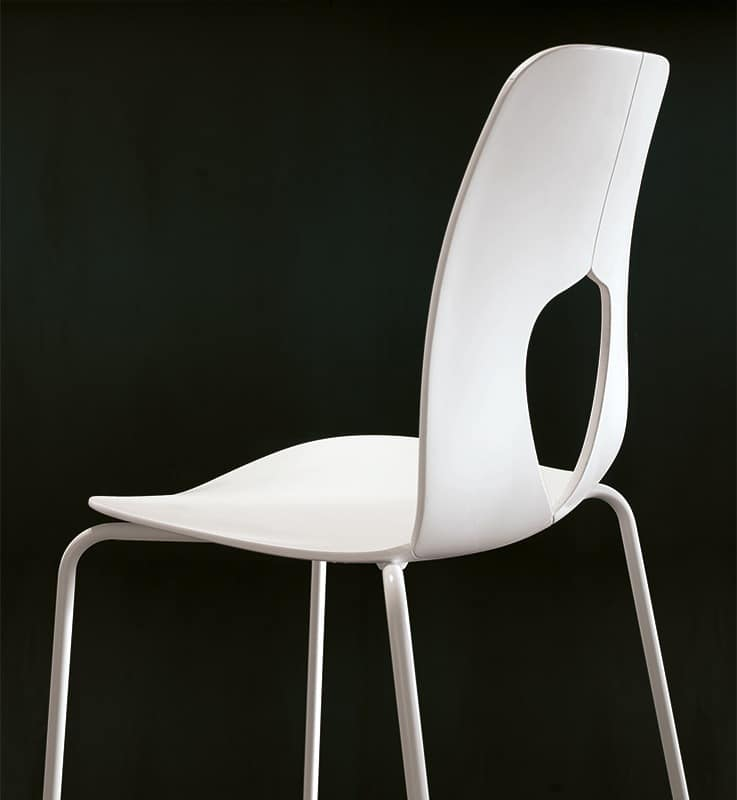 HOLE, Polypropylene chair, durable, modern, waiting room
