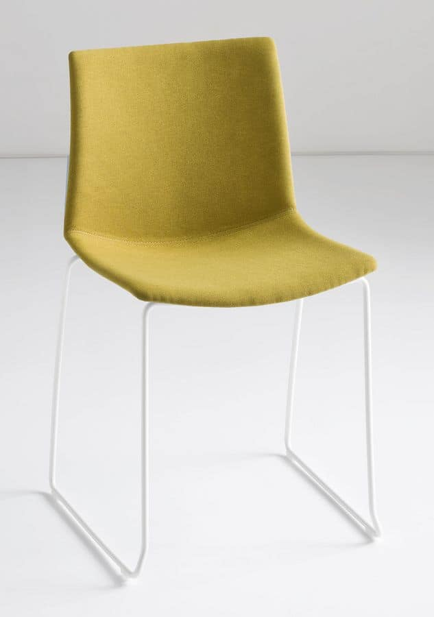 Kanvas S, Chair with sled base, technopolymer shell