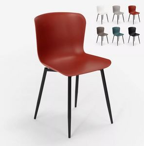 Modern design chair in polypropylene and metal for kitchen caf�s restaurant Chloe SC779, Modern chair in metal and polypropylene