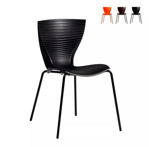 Modern design chairs for kitchen bar restaurant and garden SLIDE Gloria SD GLR080, Modern chair in polypropylene and metal