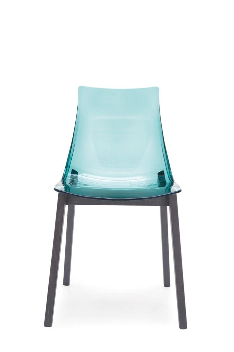 Oliver, Beech chair, plastic shell, for home and bars