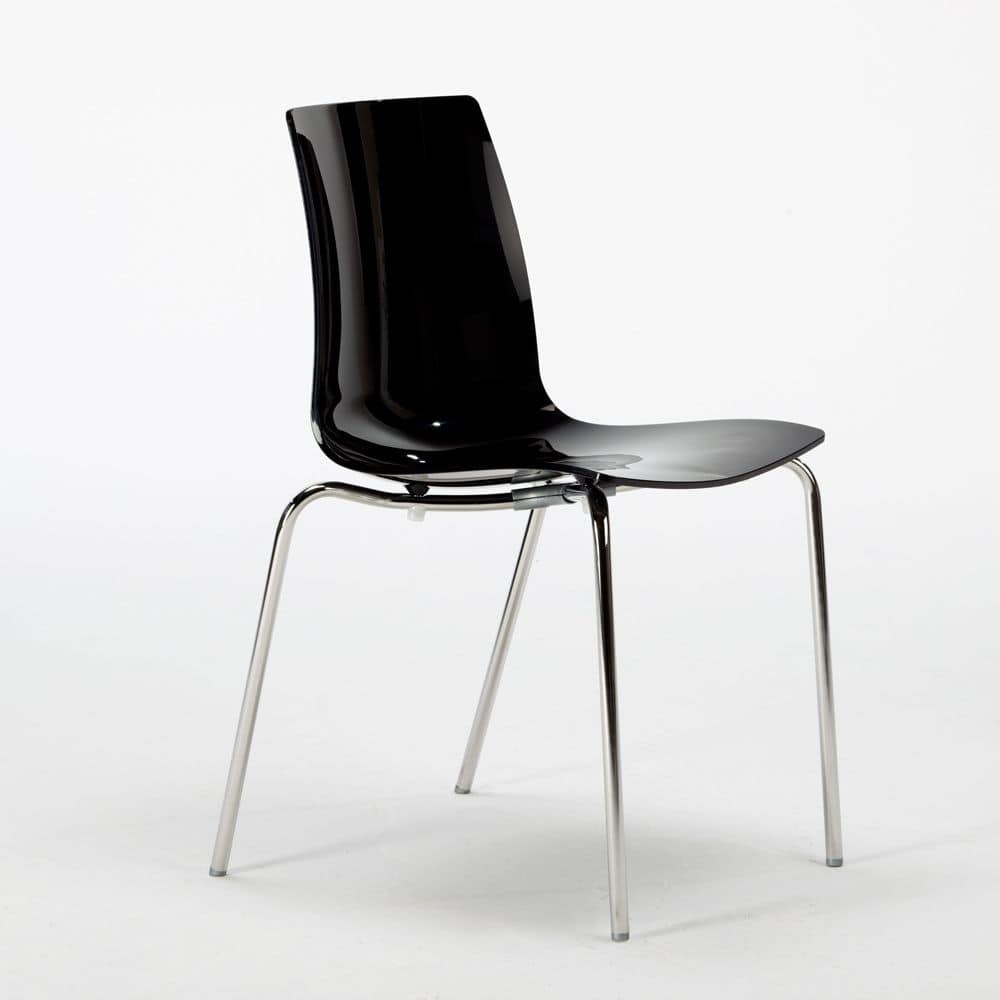 Stackable Chair Without Armrests Made With Polycarbonate Chromed Jet Shower Onda Chrome Design Kitchen Lollipop S3343