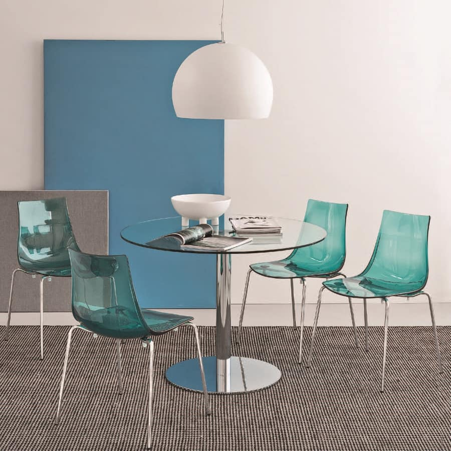 SE 2270, Chair with backrest in plastic, various colors, for restaurant