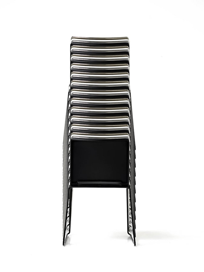 Slim, Stackable chair for conference rooms, in polypropylene
