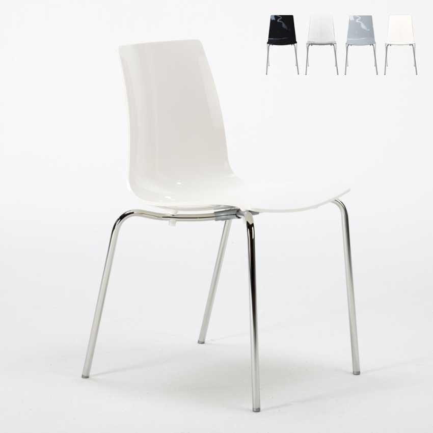 Bar chairs kitchen legs stackable steel LOLLIPOP Grand Soleil - S3343N, Economical stackable polycarbonate chair