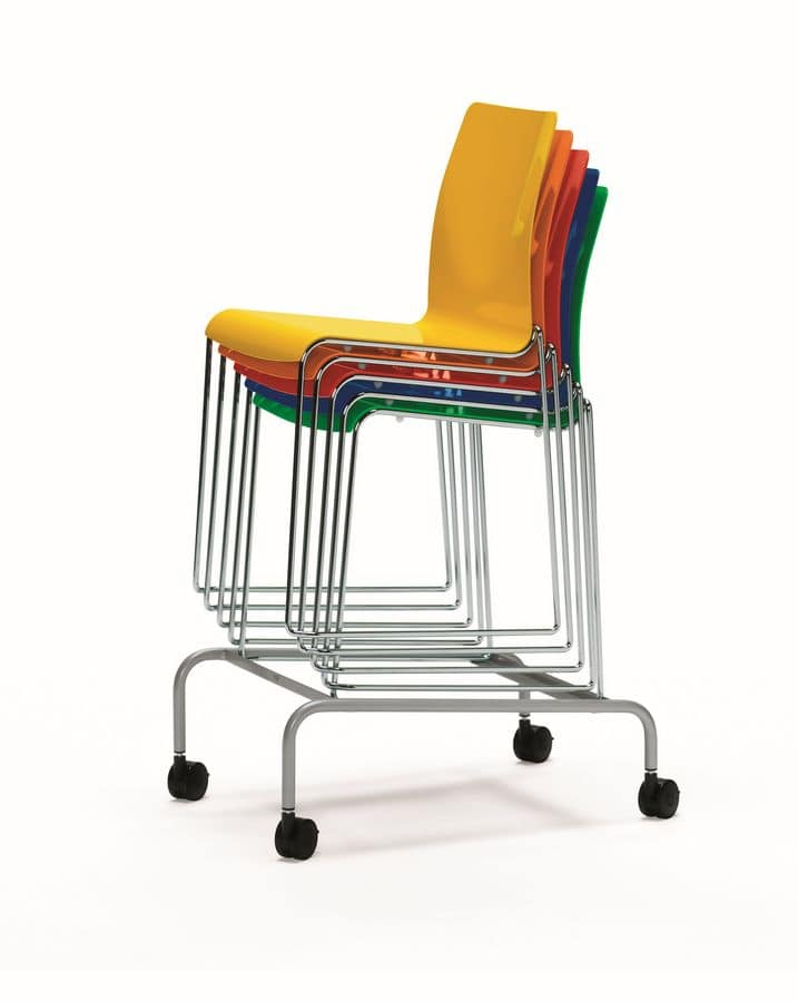 Trolley for chairs, Trolley for storage and handling chairs, ideal for catering and conference rooms