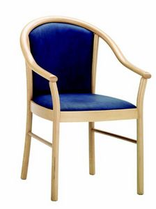 230 Bettina, Wooden chair for hotels and restaurants