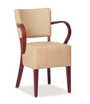 326, Chair with large upholstered seat, with armrests