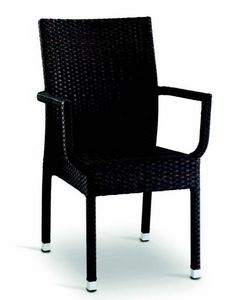 9400, Woven outdoor chair with armrests