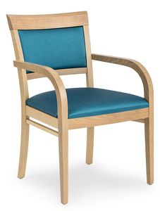 Anna XL ARMS, Comfortable padded chair with armrests