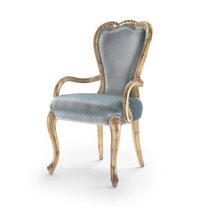 Armchair 9013 LXV style, Upholstered armchair, Louis XV style