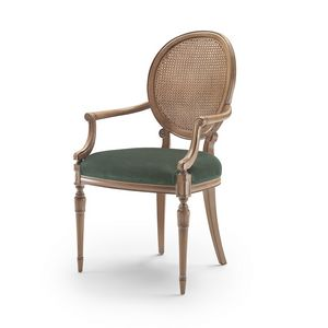Armchair 9022 LXV style, Classic style chair with armrests