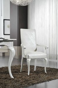 Art. 103, Dining chair with armrests, classic style