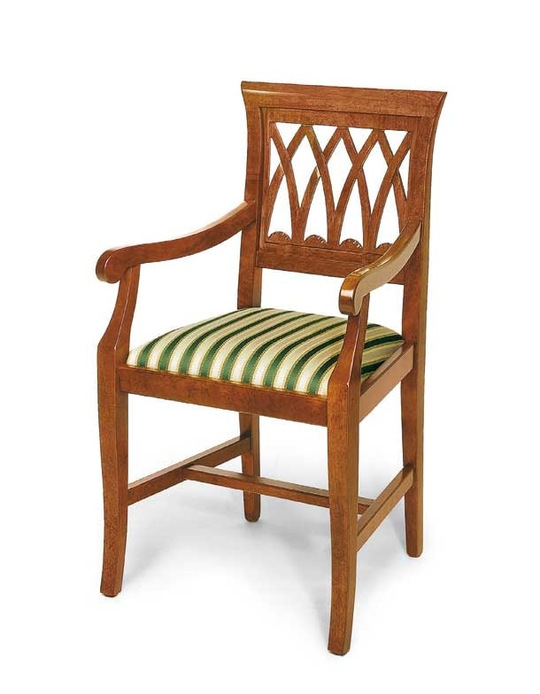 Art. 119/A, Classic chair with armrests, upholstered seat