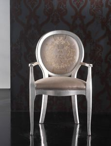 Art. 19927, Classic style chair with armrests