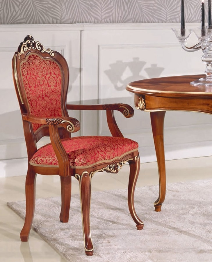 Art. 3030, Classic style chair with armrests