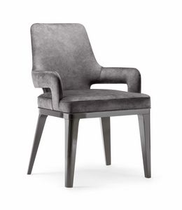 ASPEN DINING CHAIR 078 PO, Upholstered chair with armrests