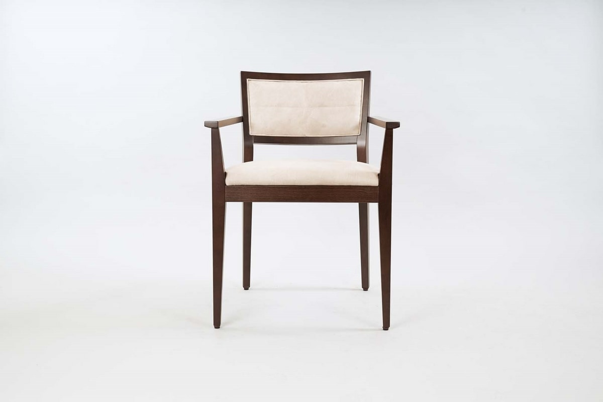 BS513A – Chair with armrests, Wooden chair with armrests