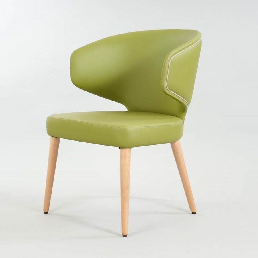 BS557A – Chair, Enveloping chair with armrests