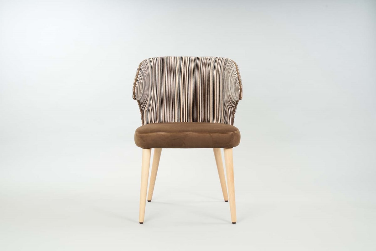 BS558A – Chair, Upholstered chair with armrests