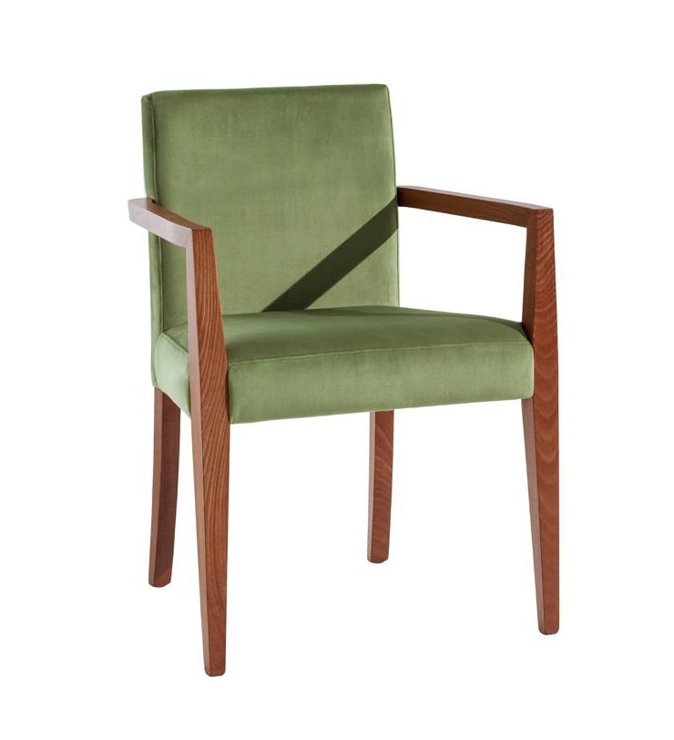 C03BP, Wooden chair with armrests