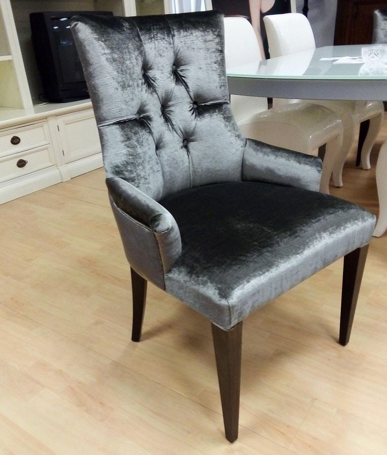 Chair 02, Chair covered in velvet