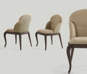 chairsedia, Dining chair upholstered in leather or fabric