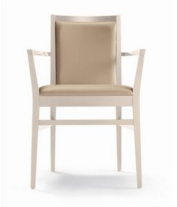 ER 440041, Wooden chair with armrests, for restaurant