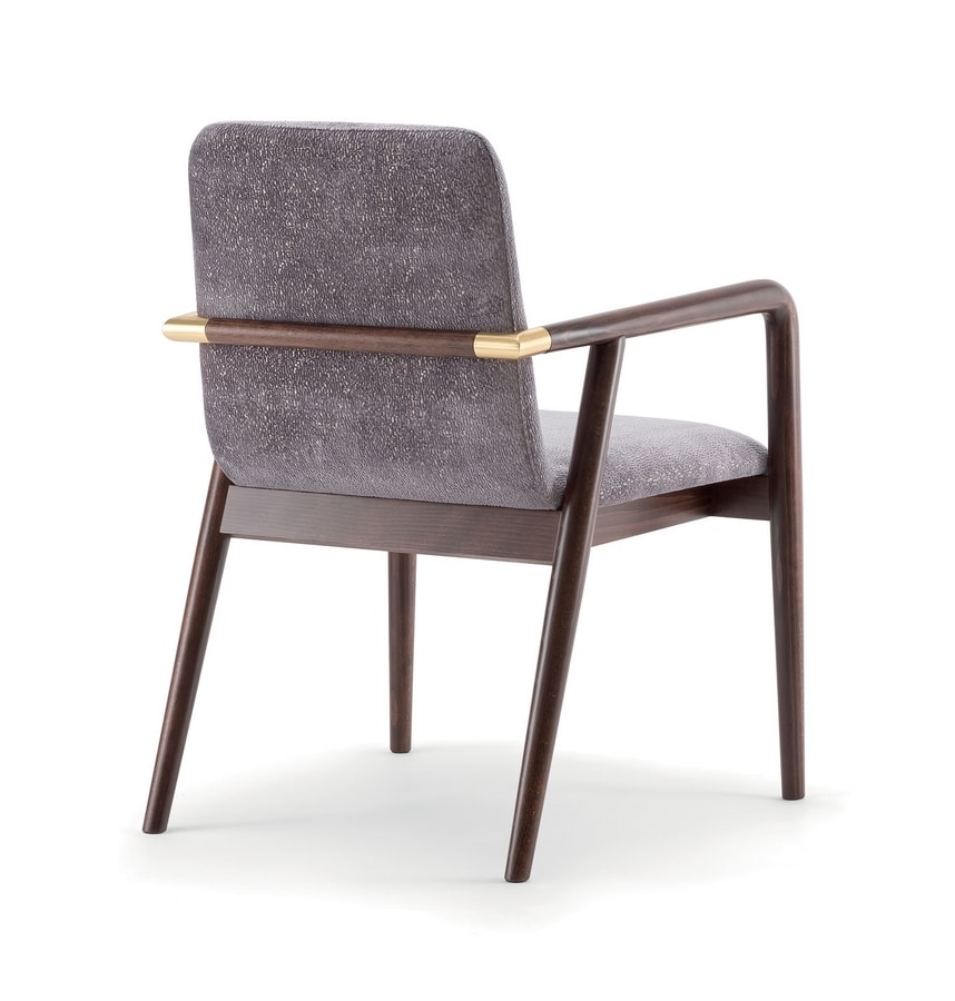 GRACE LOUNGE CHAIR 074 P, Wooden chair with armrests