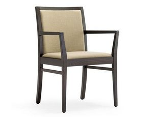 Guenda-P1, Chair with armrests for hotel