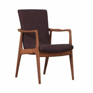 Inge 3807/N, Armchair in canaletto walnut