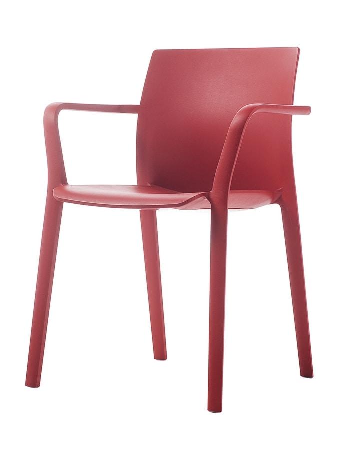 Klia, Stackable chair in reinforced polypropylene