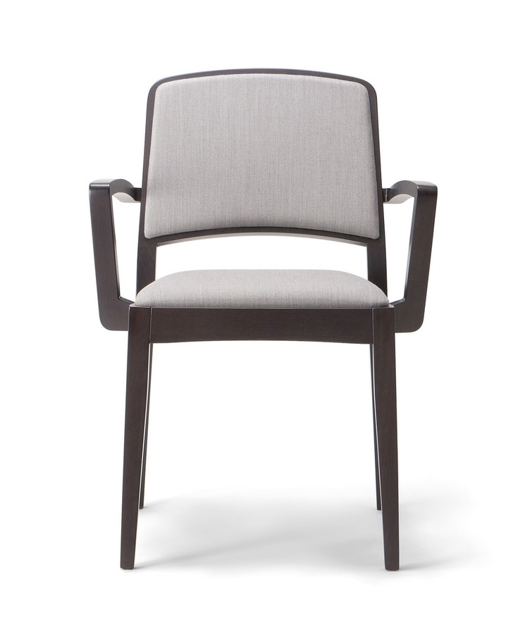 KYOTO ARM CHAIR 046 SB, Upholstered chair with armrests
