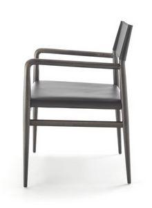 Ledermann armchair10.0605, Ash chair with armrests