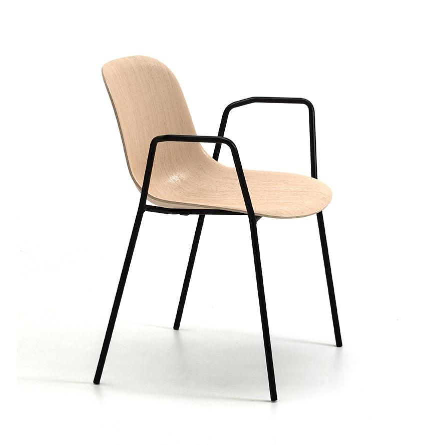 Máni Wood 4L AR, Chair with armrests