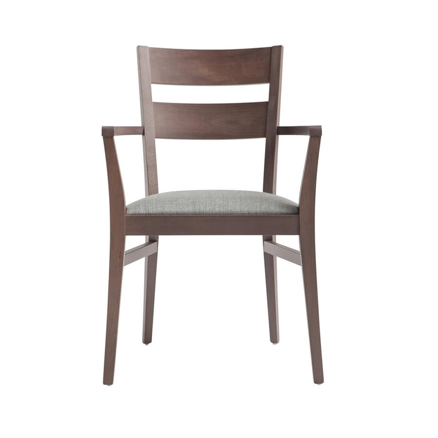 MP472AP, Chair with armrests, made of beech wood