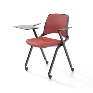 Opl� with armrests, Stackable chair with armrests